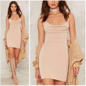On the Prowl Sleeveless Mini Dress - Beige